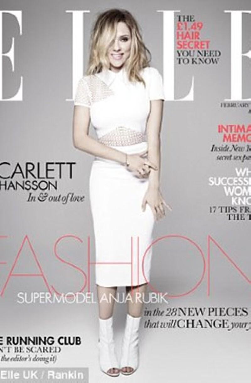 Además de ser la imagen de Elle, Johansson estrenará película en enero próximo, actuando en la historia sobre la vida del famoso director de cine Alfred Hitchcock.
