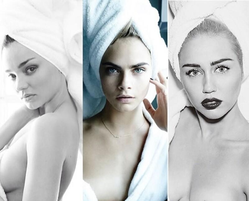 El reconocido fotógrafo logró que muchas de las modelos más importantes del momento posaran para él usando sólo una toalla.