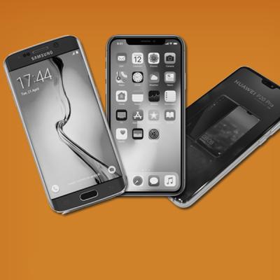Huawei iPhone Samsung smartphones