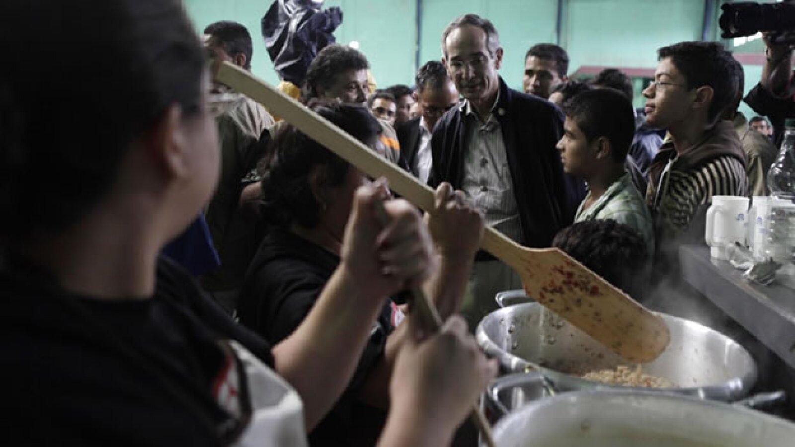 Visita del presidente de Guatemala a refugio