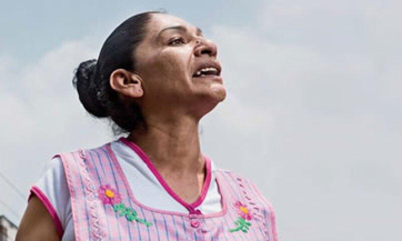 Lourdes Ruiz, conocida como 'La verdolaga enmascarada', es campeona nacional de albures desde 1997. Hace cinco años imparte diplomados. (Foto: Jesús Almazán / Expansión)