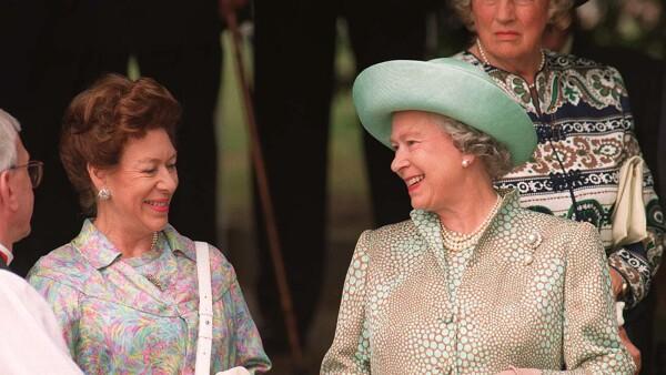 Princesa Margarita y la reina Isabel II