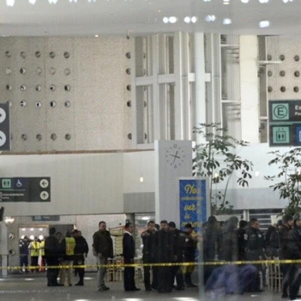 balacera en el aeropuerto de la ciudad de mexico