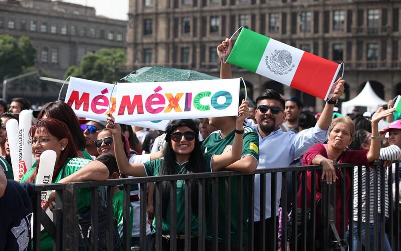 Zocafut México vs. Corea en el Zócalo 1