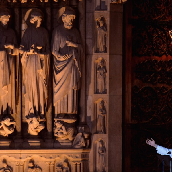 Pope Benedict XVI Conducts Vespers At Notre Dame