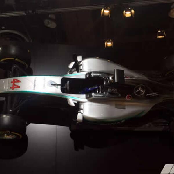 Este es el vehículo con el que Mercedes Benz ganó en el Gran Premio de México.