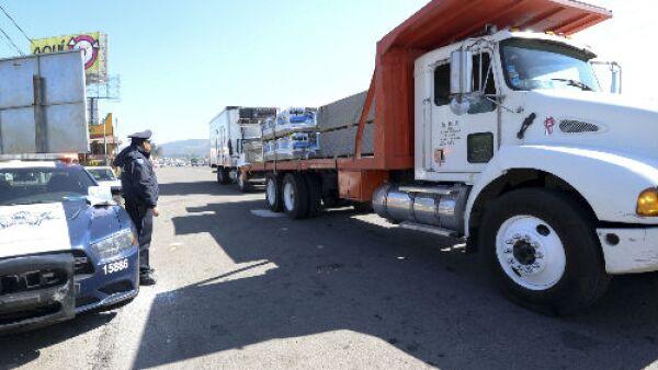 punto de revisi�n de camiones