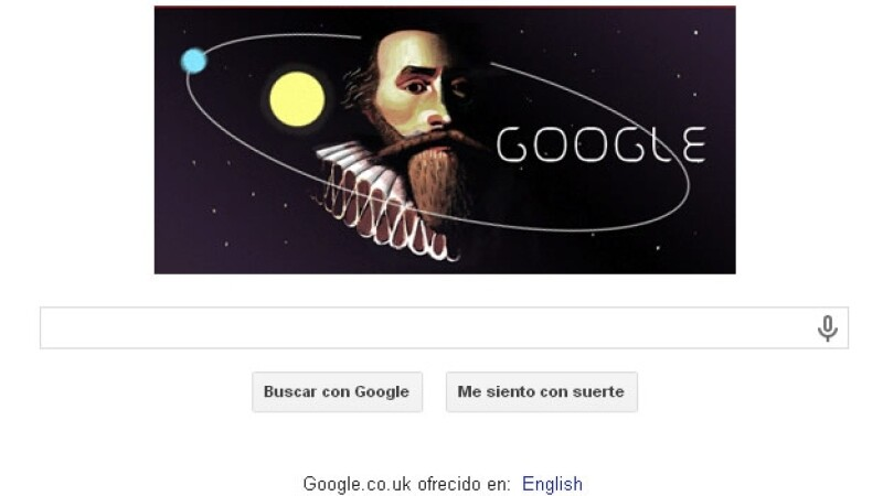 Doodle en honor a Johannes Kepler
