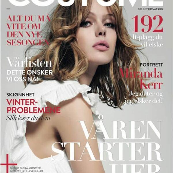Frida también es la portada de la revista Costume en Noruega.