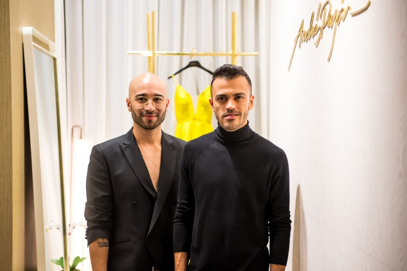 Felipe Cartagena y Andrés Pajón en la inauguración de su boutique.