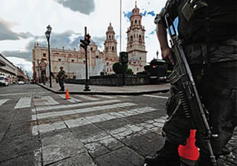 Los militares son parte del paisaje moreliano. (Foto: Francisco Castellanos/Procesofoto)