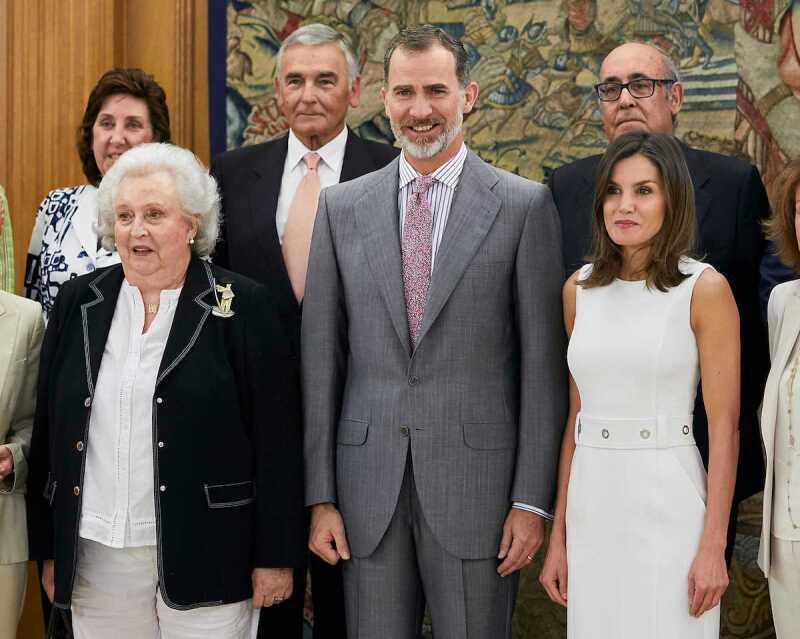 La infanta Pilar y los reyes Felipe VI y Letizia