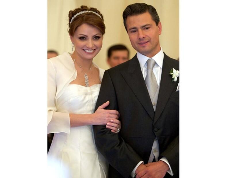 Angélica Rivera y Enrique Peña Nieto.