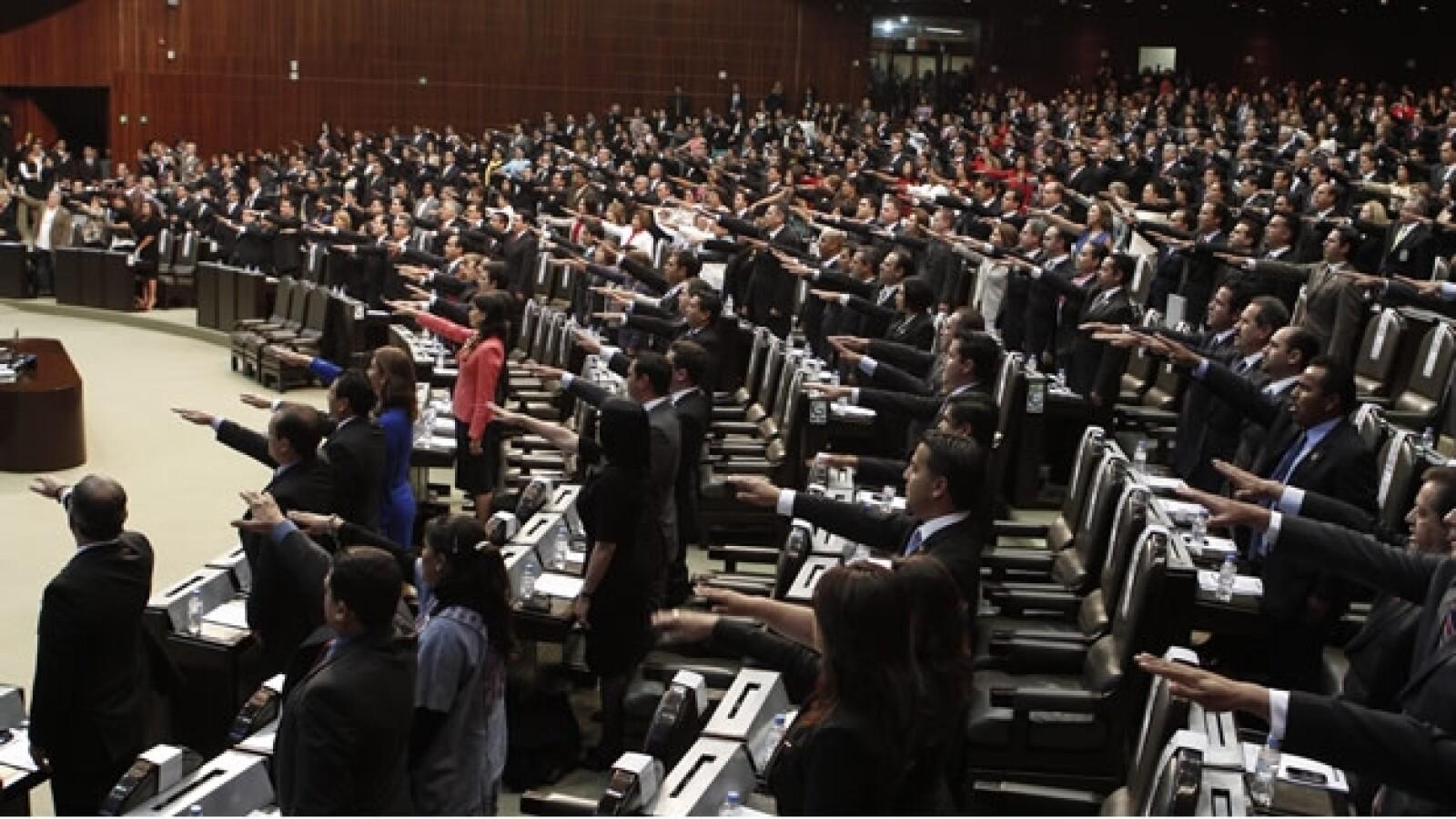 camara de diputados protesta