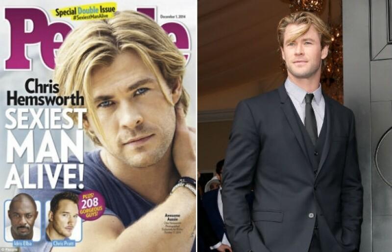Chris Hemsworth, el galán australiano que conquistó el mundo es el Hombre más sexy.