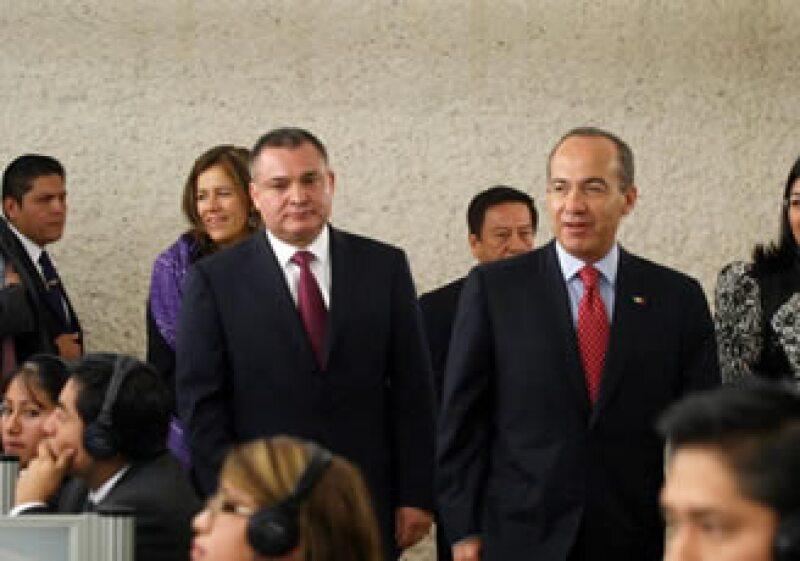 Calderón Hinojosa dijo que su administración trabaja con el propósito de construir un país de leyes y libertades. (Foto: Notimex)