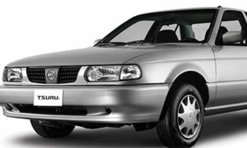 El Tsuru sumó 16 años como el auto más robado.(Foto: Tomada del sitio nissan.com.mx)