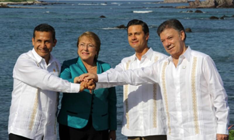 Los presidentes de Perú, Chile, México y Colombia abrieron la IX Cumbre de la Alianza Pacífico en Nayarit. (Foto: Notimex)