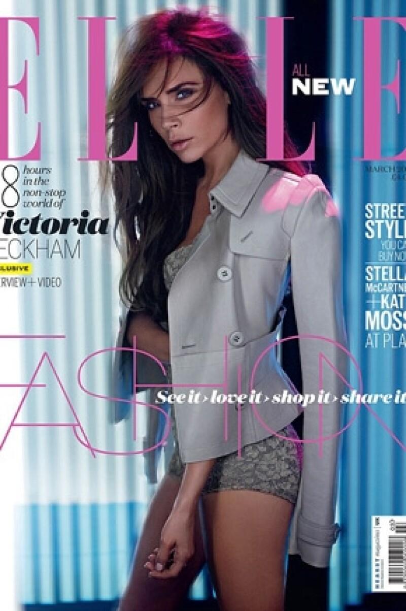 Así aparece la diseñadora en la nueva portada de ELLE Inglaterra.