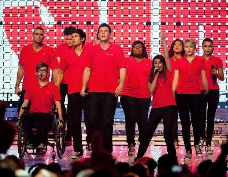 """Parte del elenco de """"Glee"""" en 2011."""
