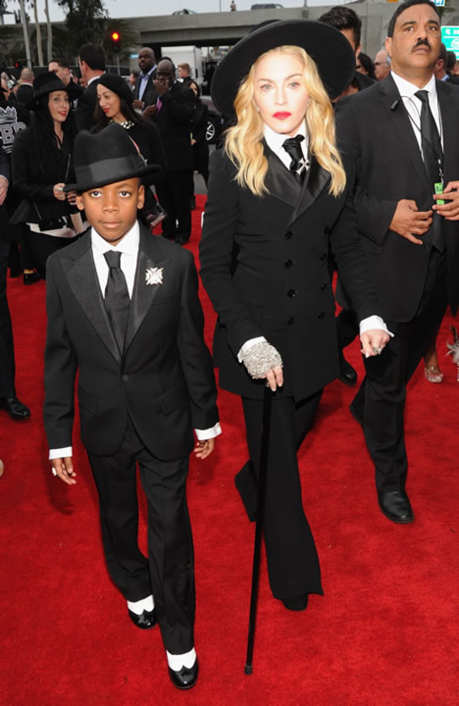 Madonna y su hijo David Banda.