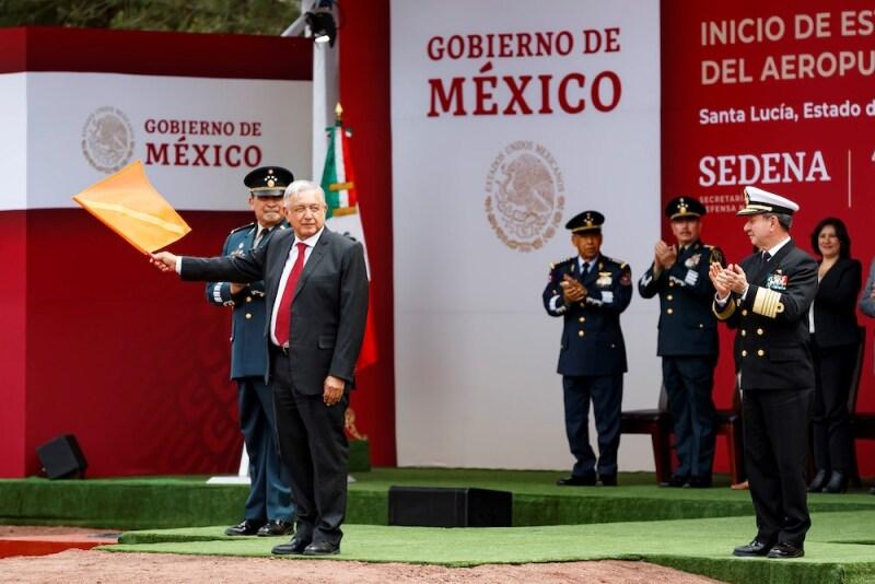 LÛpez Obrador inaugura construcciÛn del nuevo aeropuerto de MÈxico