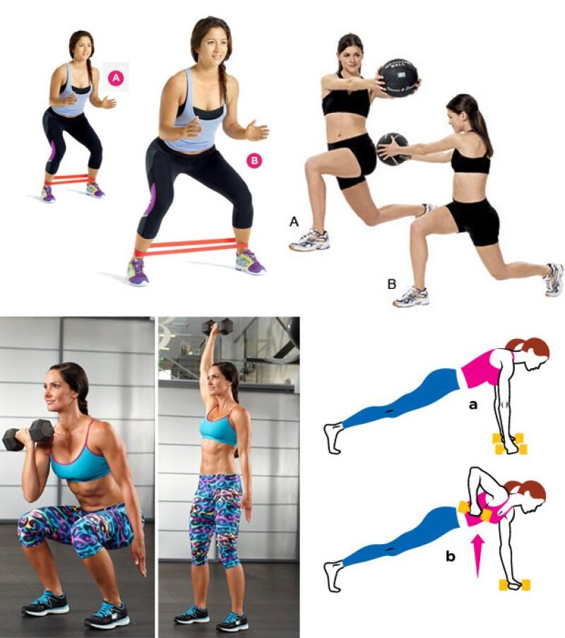 Estos son algunos de los ejercicios que la estrella de reality realizó para lograr su curvilínea figura.