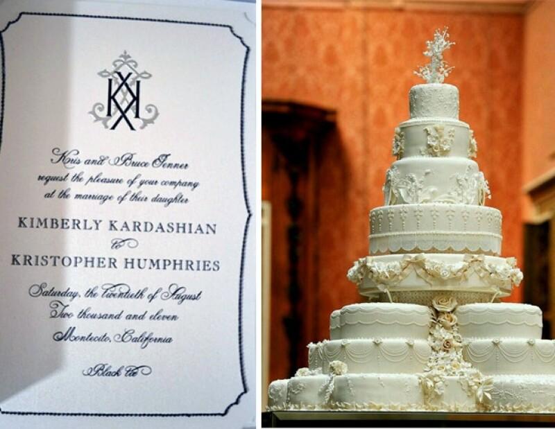 Las invitaciones fueron enviadas en cajas con incrustaciones en cristales negros de amatista y el pastel podrái ser como el de Los Duques de Cambridge.