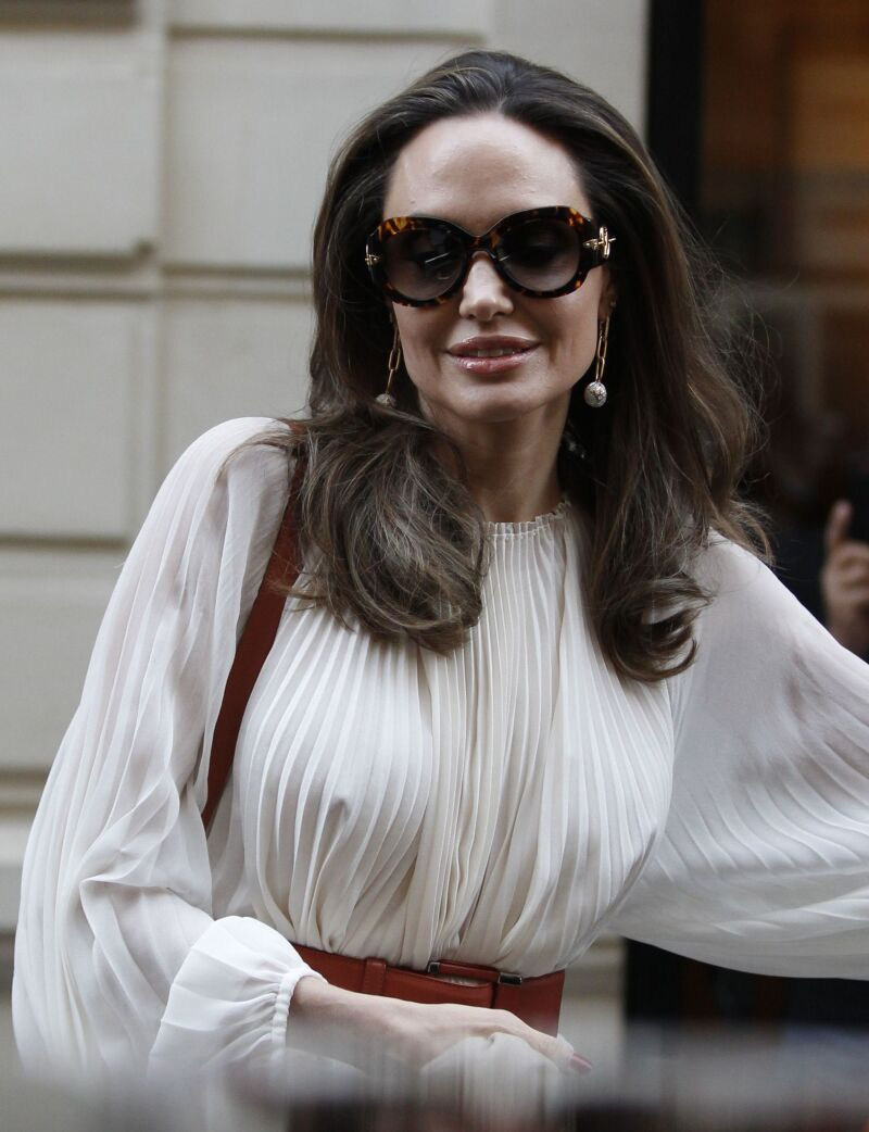 Angelina Jolie and Jacqueline Bisset out and about, Paris, France - 08 Jul 2019
