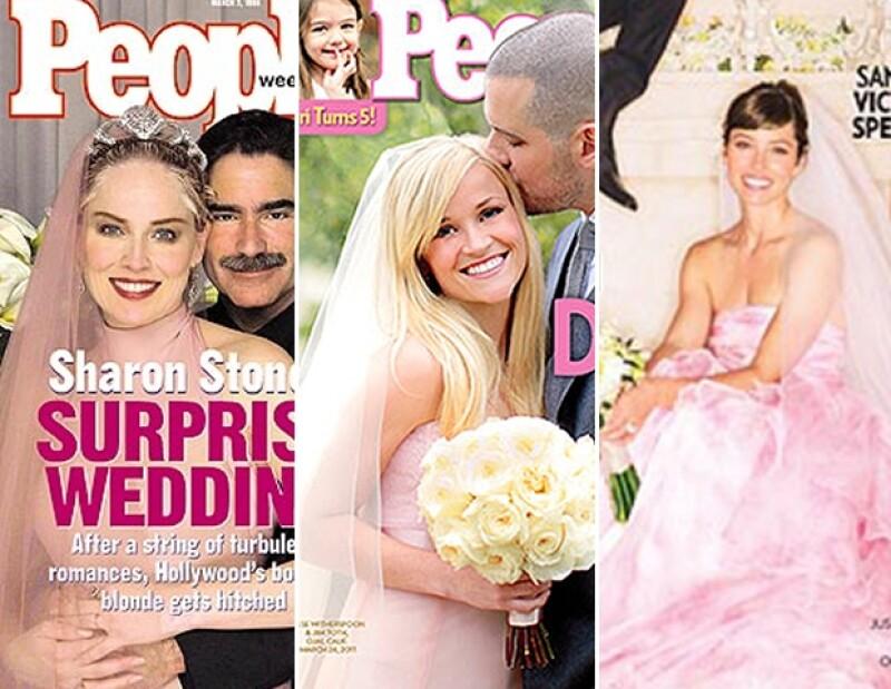 Ya no nos extrañan los vestidos de novia en colores atrevidos.