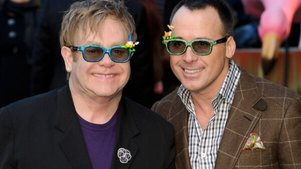 Elton y David se convirtieron en padres en diciembre pasado.
