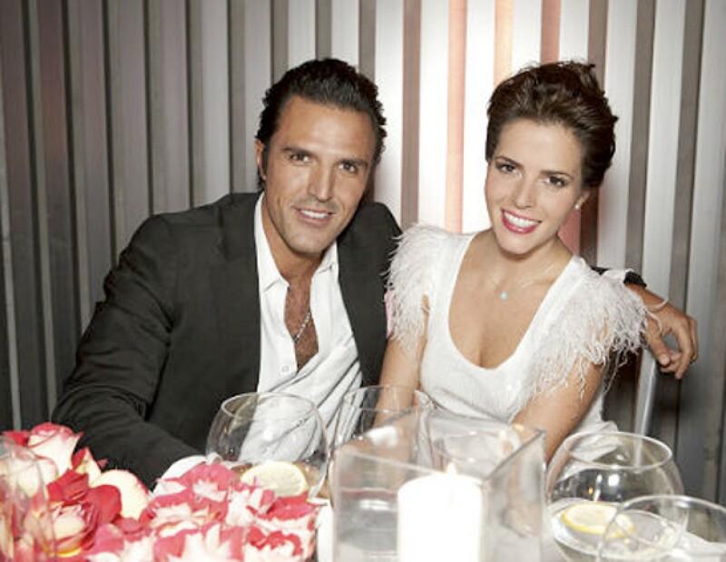 Claudia y Billy en el evento de la marca Ferragamo en diciembre del año pasado.