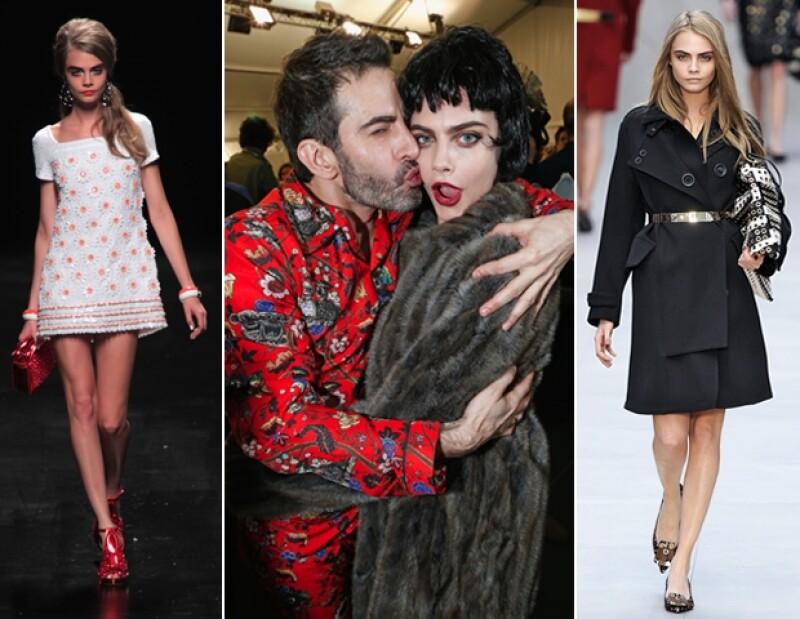 Moschino, Burberry y hasta Marc Jacobs aman el trabajo de Cara.