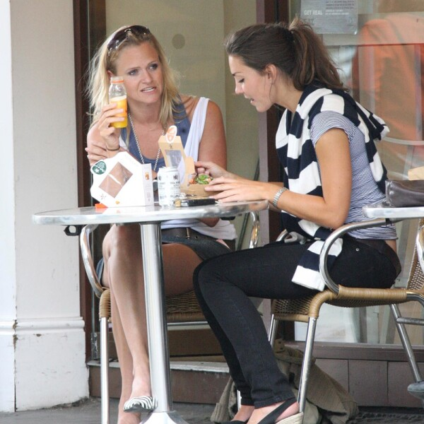 Kate Middleton lunching in West London, Britain