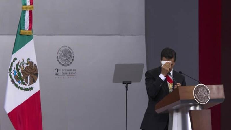 Peña Nieto en su informe