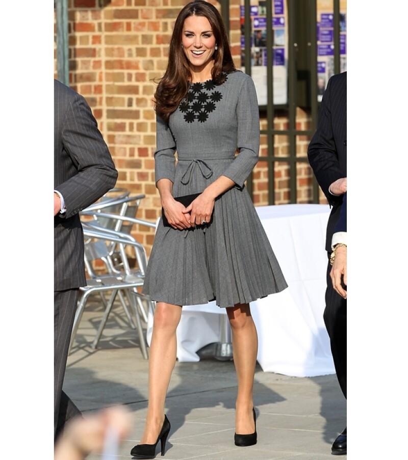 Kate Middleton estuvo acompañada por sus suegros.