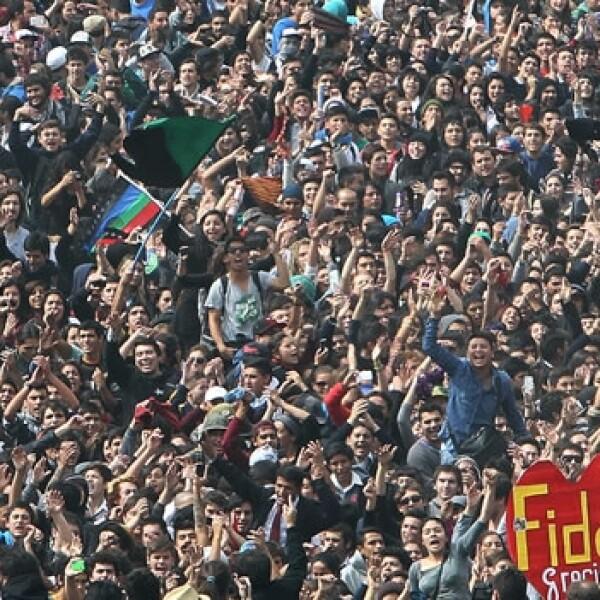 manifestacion estudiantes chile
