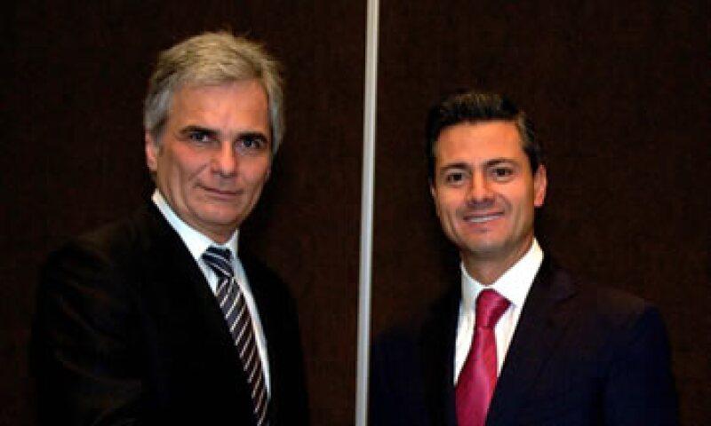 El presidente Peña Nieto invitó al canciller federal de Austria (izquierda) a que visite México pronto. (Foto: Reuters)