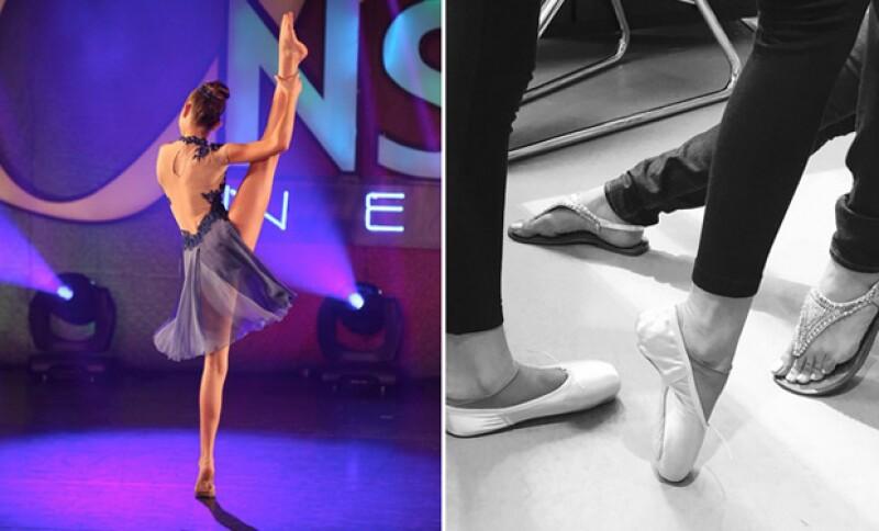 La actriz ha presumido las habilidades de su hija Caryn en el ballet.
