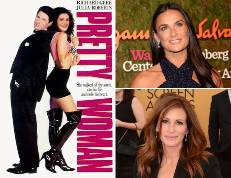 Moore dejó pasar el icónico papel de Julia Roberts en Pretty Woman