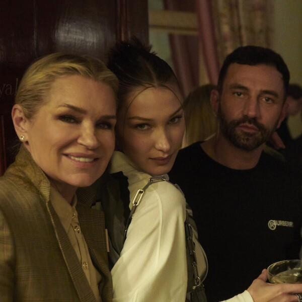 Yolanda Hadid, Bella Hadid and Riccardo Tisci at a Burberry Autumn_Winter 2020 Party.jpg
