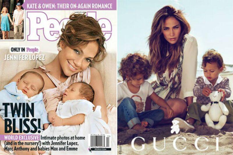 Jennifer y sus hijos en otros de sus momentos estelares juntos.