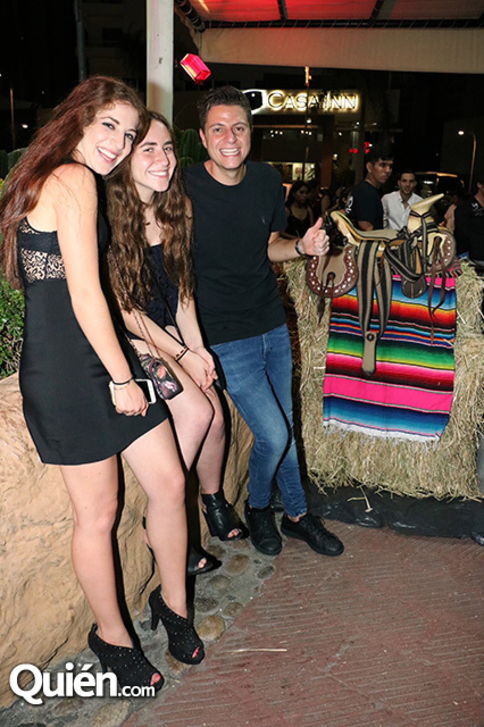 Graciela Lerma, Nicole González y Eduardo Cega