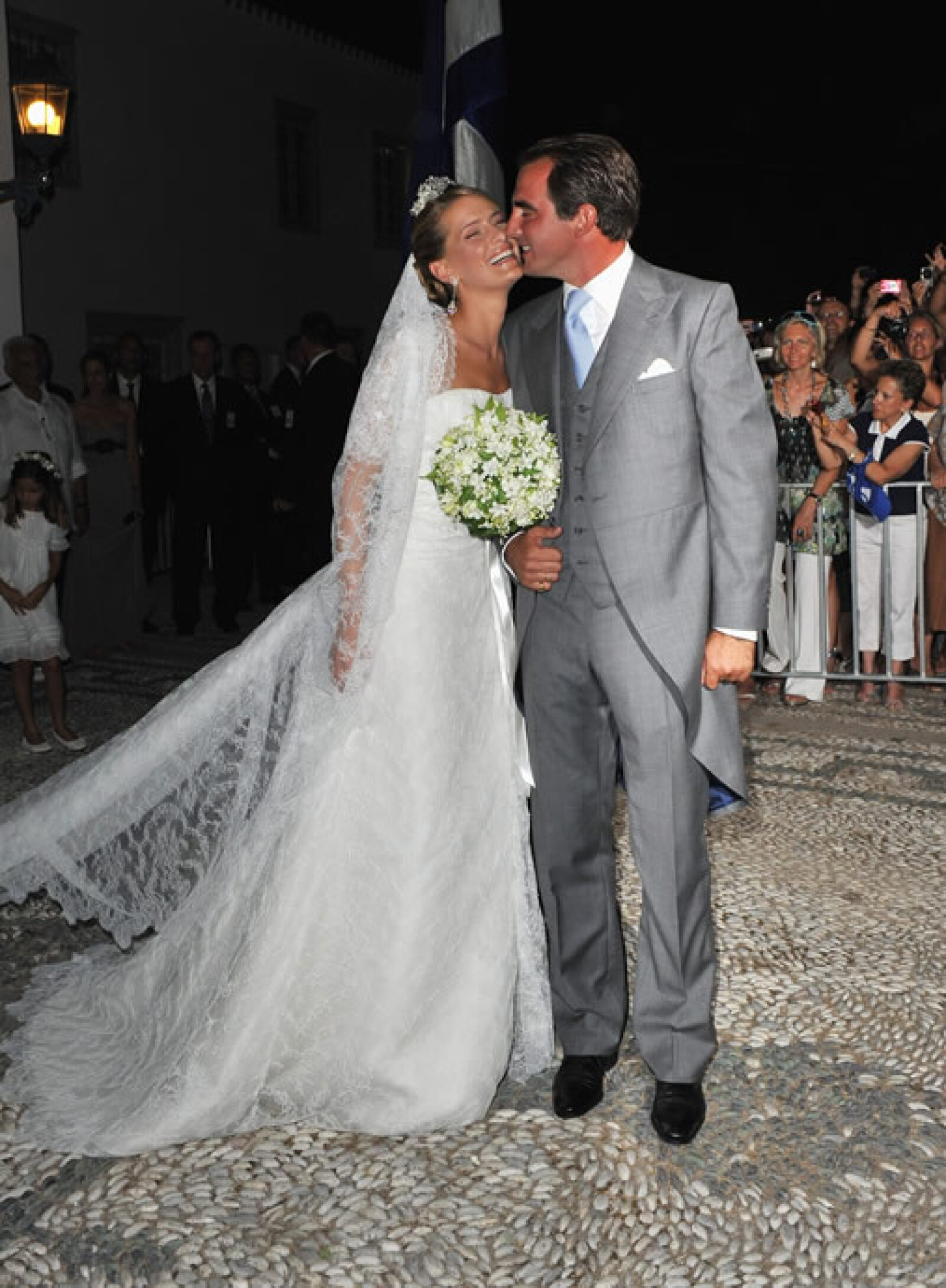Tatiana Blatnik se casó con el príncipe Nikolaos de Grecia en 2010, usando un vestido de Ángel Sánchez.