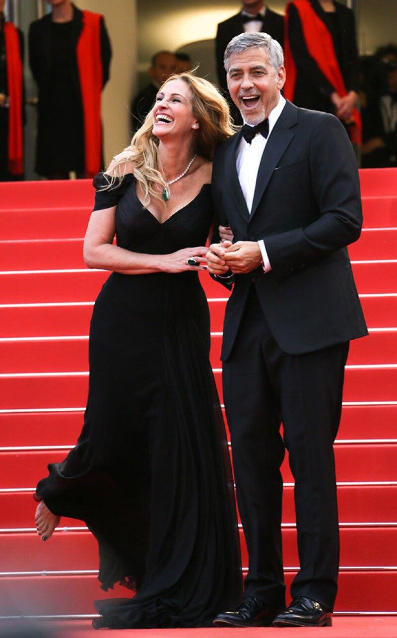 Julia Robert enamoró con su carisma en el festival de cine.