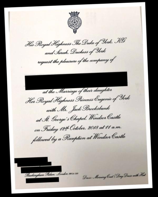 Invitación de Eugenia y Jack