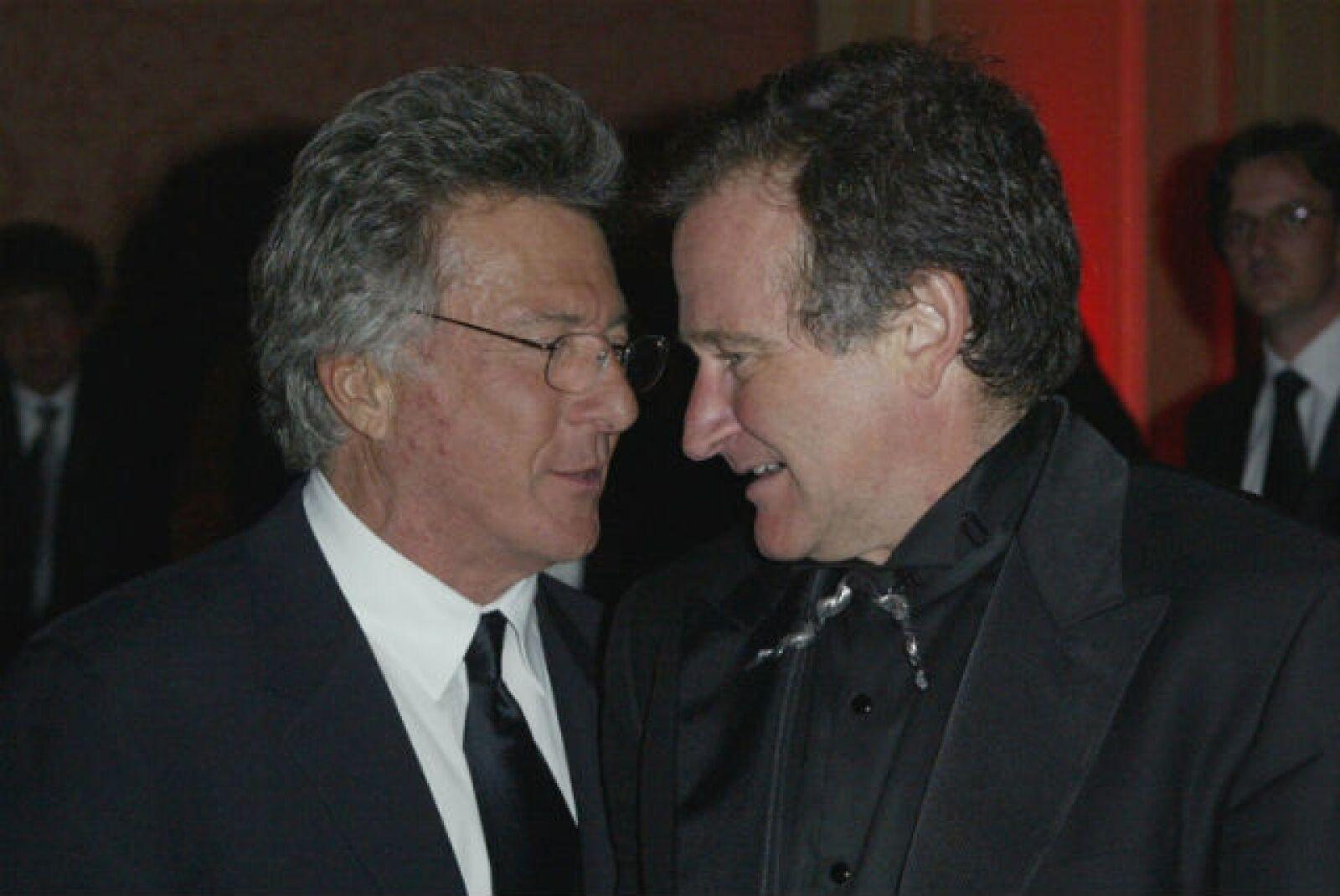 Dustin Hoffman también compartió mucho vida hollywoodense con Robin.