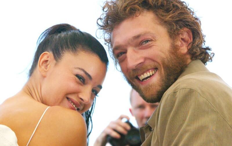 Vincent Cassel y Monica Bellucci cuando eran esposos, en 2002.