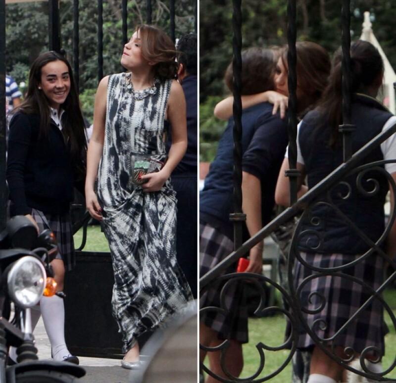 La hija de Angélica Rivera se encuentra en la recta final de las grabaciones de la telenovela.