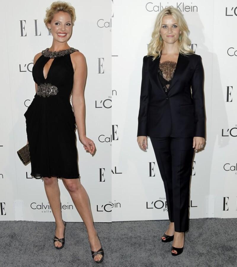 Katherine Heigl (izquierda), Reese Witherspoon (derecha)